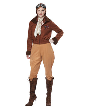 Pilotin Kostüm classic für Damen