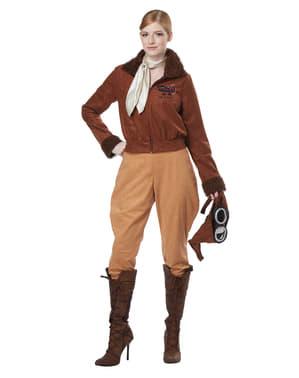 Klassiek Aviator kostuum voor vrouw