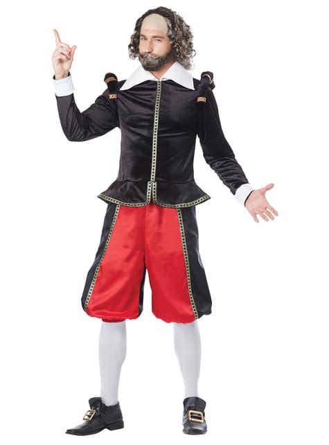 Disfraz de Shakespeare deluxe para hombre - hombre