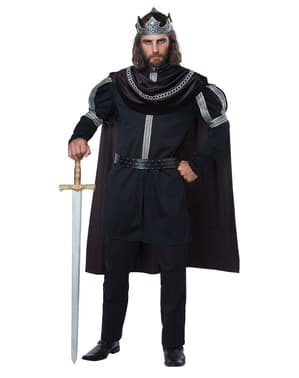 Disfraz de Monarca de la Oscuridad para hombre talla grande