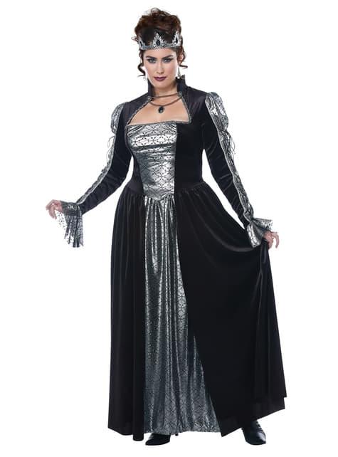 Fato de Majestade da Escuridão para mulher tamanho grande