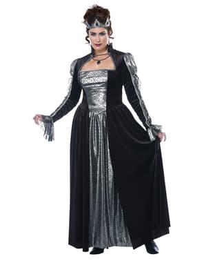 Zwarte periode kostuum voor vrouwen grote maat