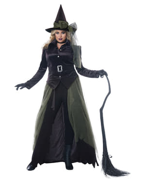 Costum de vrăjitoare gotică pentru femeie mărime mare
