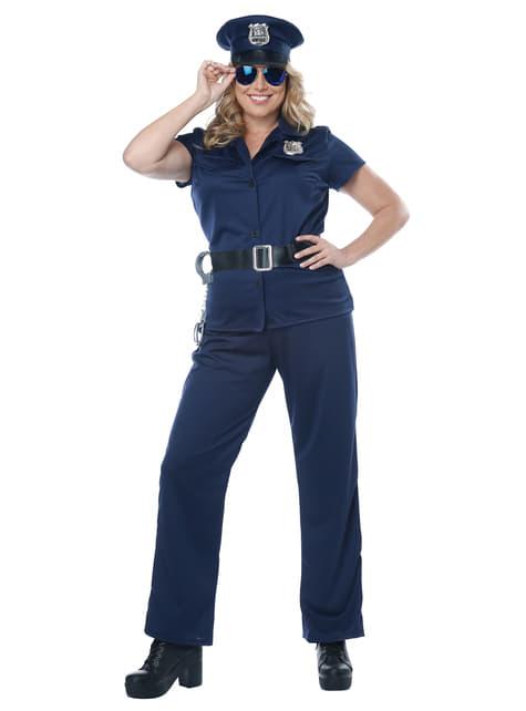 Disfraz de policía para mujer talla grande - mujer