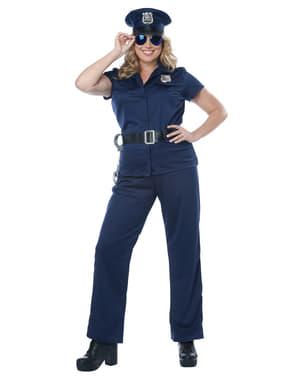 Fato de polícia para mulher tamanho grande