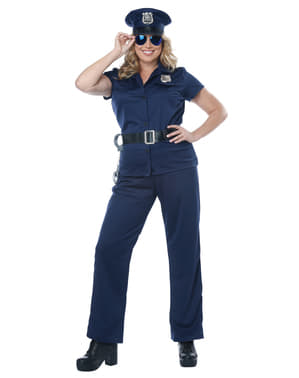 Police costume for women large size