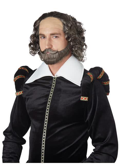 Peluca de Shakespeare para adulto