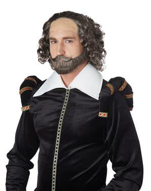 Peruca de Shakespeare para adulto
