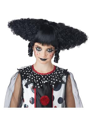 Peruka strasznego klauna czarna
