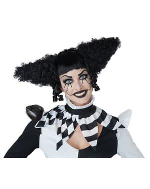 Horrorclown Perücke schwarz