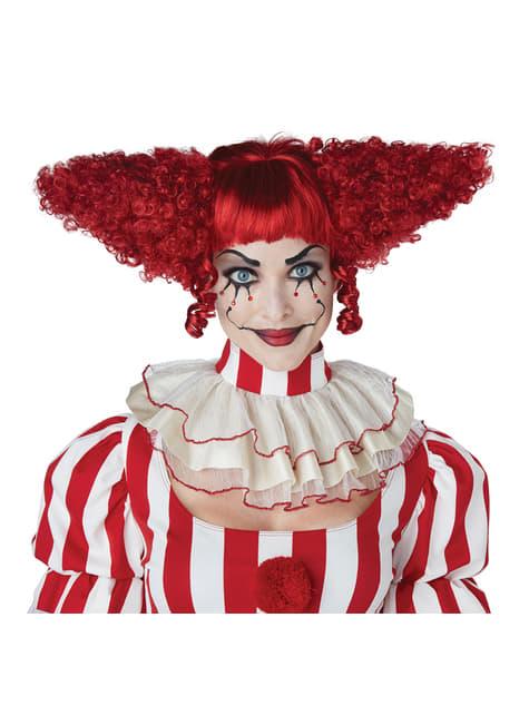 Peluca de Payasa del terror roja - para tu disfraz