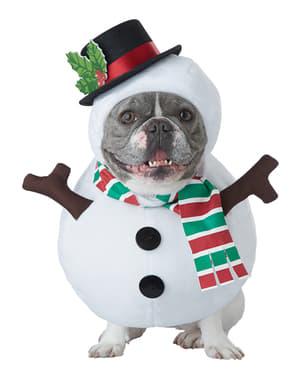 Sneeuwman kostuum voor honden