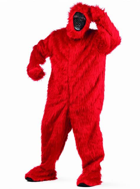 Kostium czerwony goryl