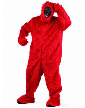 Iso Punainen Gorilla- asu aikuisille