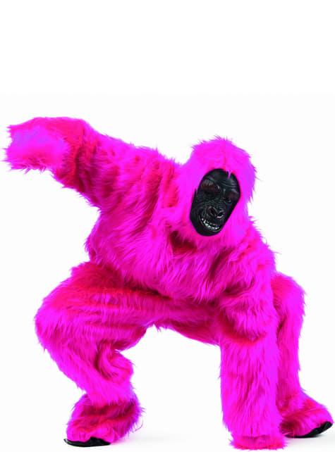 Fato de gorila Gorilón cor-de-rosa