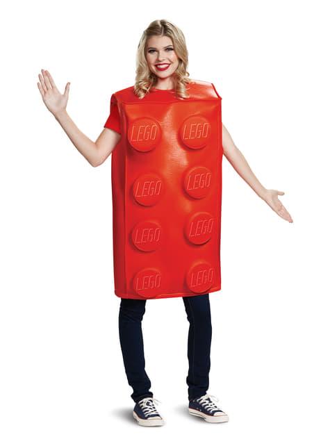 Disfraz de pieza roja para adulto - Lego