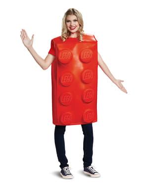 Kostým červená kostička pro dospělé - Lego