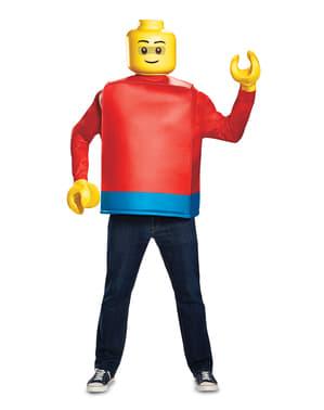 Disfraz de muñeco de Lego para adulto