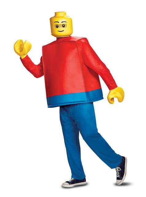 Disfraz de muñeco de Lego deluxe para adulto