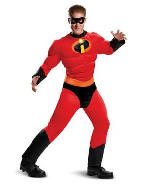 Fato de Sr. Incrível deluxe para adulto - The Incredibles 2: Os Super-Heróis