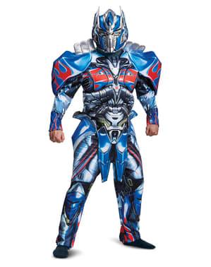 Fato de Optimus Prime deluxe para adulto