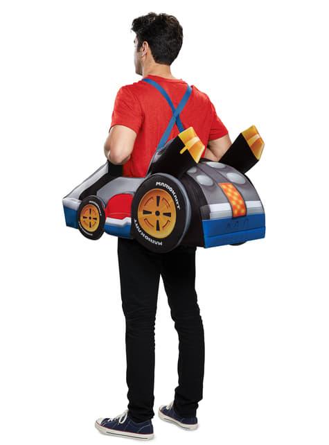 Fato de kart de Mario para adulto - Super Mario Bros