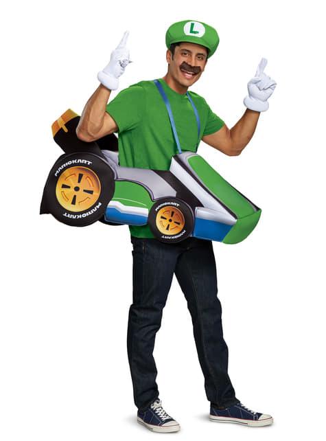 Disfraz de kart de Luigi para adulto - Super Mario Bros