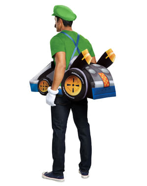 Costume di kart di Luigi per adulto - Super Mario Bros