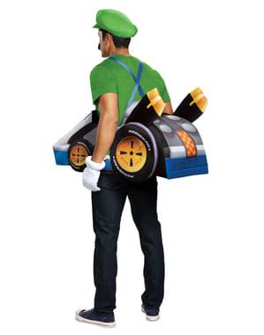 Fato de kart de Luigi para adulto - Super Mario Bros