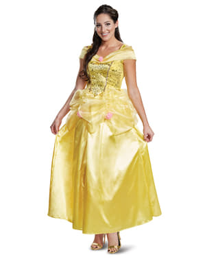 Deluxe Belle kostyme til voksne - Skjønnheten og Udyret