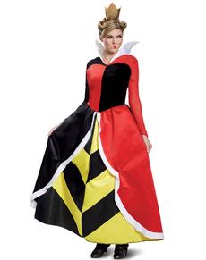 Herzkönigin Kostüm deluxe für Erwachsene - Alice im Wunderland