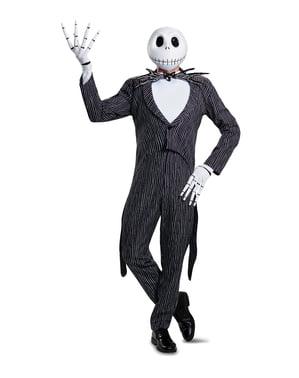 Розкішний костюм Джека Скеллінгтона для дорослих - Кошмар перед Різдвом