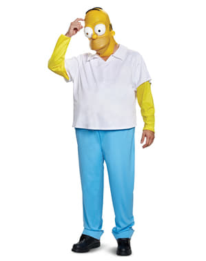 Costum Homer deluxe pentru adult - Familia Simpson