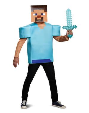 Fato de Steve classic para adulto - Minecraft