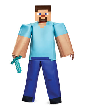 Costume di Steve prestige per adulto - Minecraft