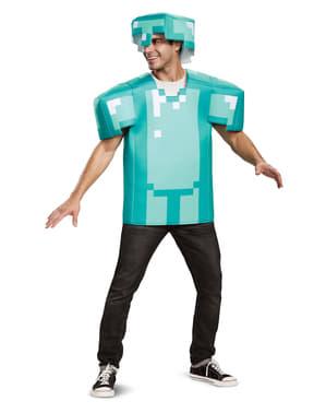 Blå Klassisk Minecraft rustning til voksne