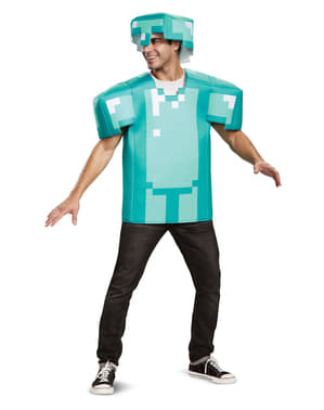 Minecraft Kostüm blau classic für Erwachsene