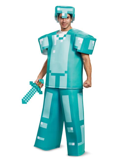 Armadura de Minecraft azul prestige para adulto