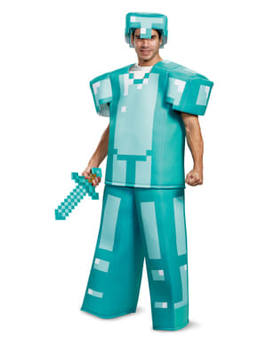 Armure Minecraft bleue prestige adulte