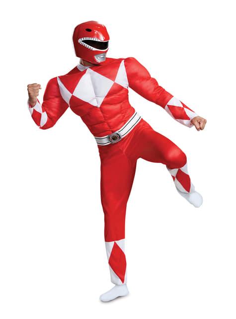 Fato de Power Ranger vermelho para adulto - Power Rangers Mighty Morphin