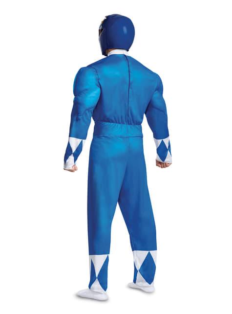 Disfraz de Power Ranger azul para adulto - Power Rangers Mighty Morphin - adulto