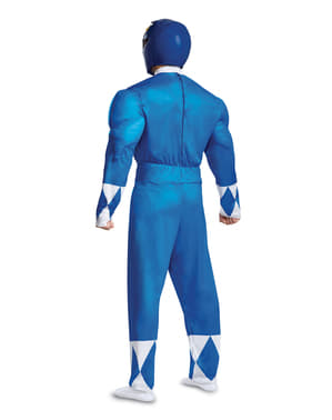 Costume di Power Ranger blu per aulto - Power Rangers Mighty Morphin