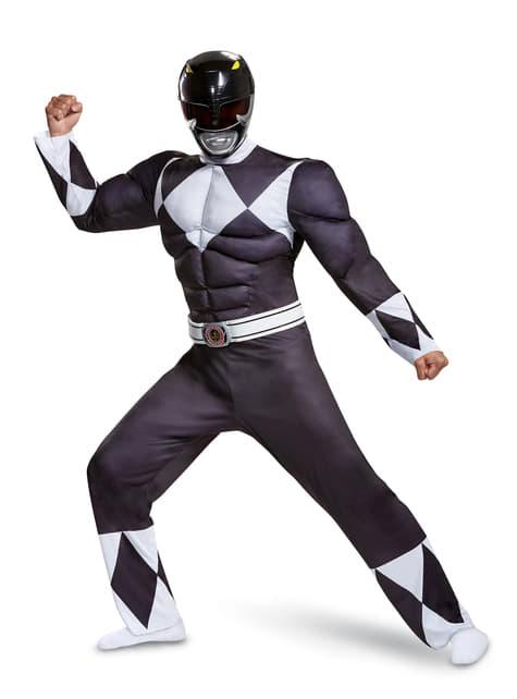 Disfraz de Power Ranger negro para adulto - Power Rangers Mighty Morphin
