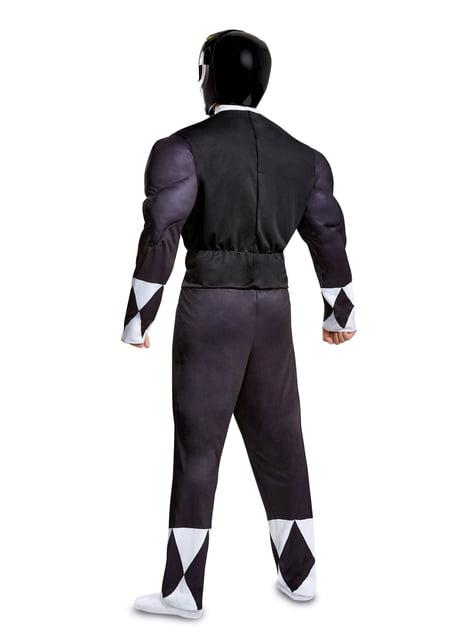 Disfraz de Power Ranger negro para adulto - Power Rangers Mighty Morphin - adulto