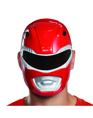 Mask Power Ranger röd för vuxen - Power Rangers Mighty Morphin