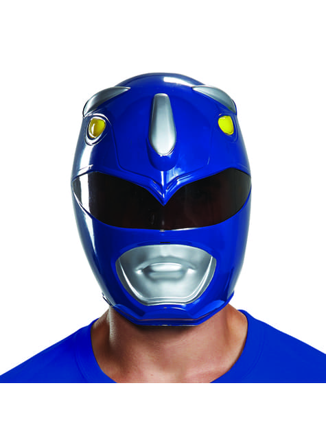 Máscara de Power Ranger azul para adulto - Power Rangers Mighty Morphin