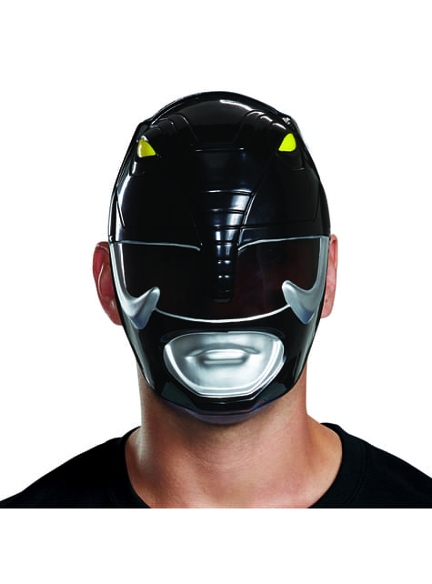 Máscara de Power Ranger preto para adulto - Power Rangers Mighty Morphin