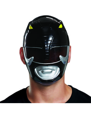 Maska Power Ranger czarna dla dorosłych - Power Rangers Mighty Morphin