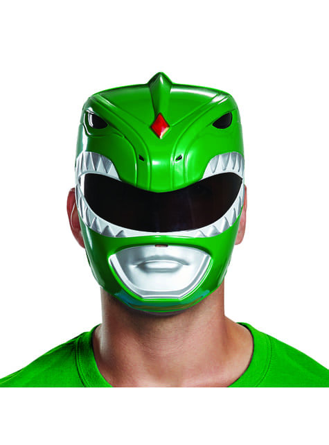 Green Power Ranger mask for adults - Power Rangers Mighty Morphin