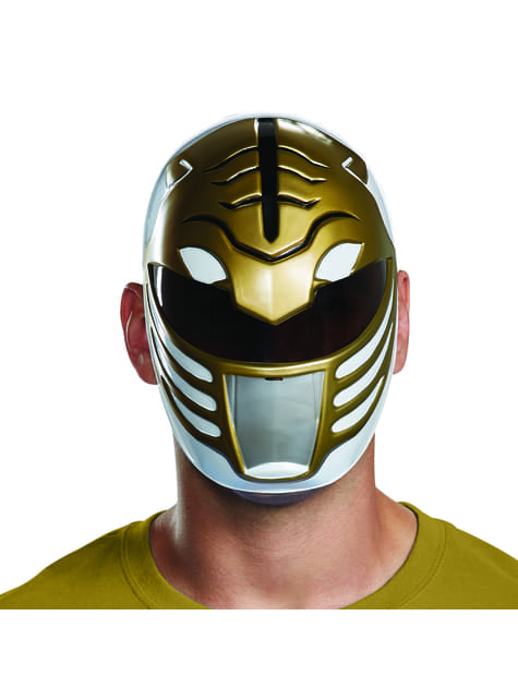 Máscara de Power Ranger blanco para adulto - Power Rangers Mighty Morphin